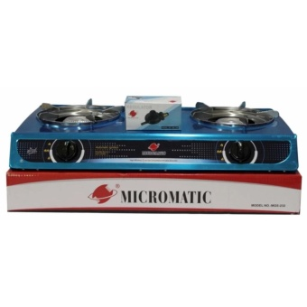 Micromatic Mgs 232 Double Burner Gas Stove Wit Regulator Grey Online Shopping In Philippines