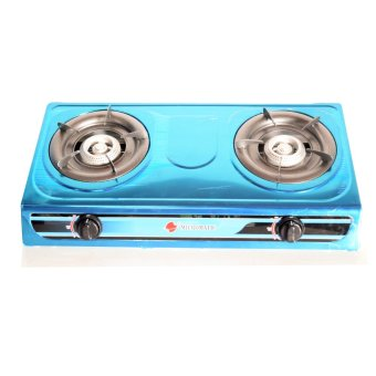 Micromatic MGS-233 Double Burner Gas Stove (Blue)