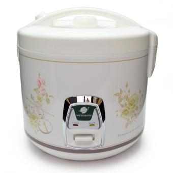 Micromatic MJRC-7028 Rice cooker (White/ Brown)