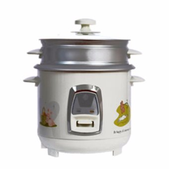 Micromatic MRC-5038 Rice Cooker With Steam Rack 1L (White)
