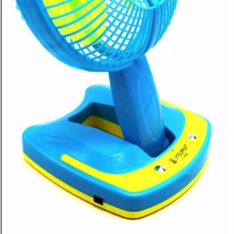 """Mini 6"""" Rechargeable AC/DC 2 Speed Table Fan with 21 SMD LED Lights - 3"""