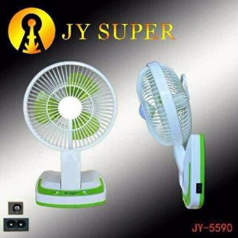 """Mini 6"""" Rechargeable AC/DC 2 Speed Table Fan with 21 SMD LED Lights - 5"""