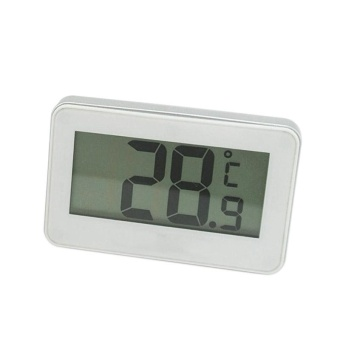 Mini Digital LCD Thermometer for Fridge Freezer Room With MagneticHanging Hook Frost Alert - intl