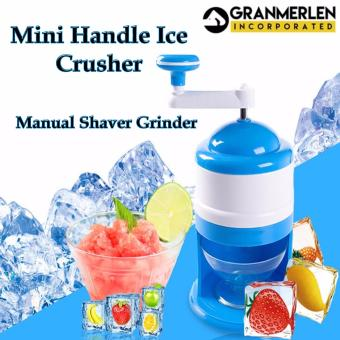 Mini Handle Ice Crusher Manual Shaver Grinder House Snow Machine