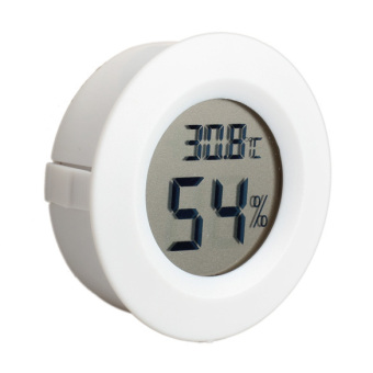 Mini LCD Celsius Digital Thermometer Humidity Hygrometer Meter White (Intl)