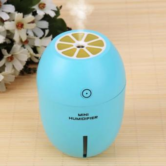 Mini Lemon Air Humidifier Home Office Car USB Portable with LED Night Light, Portable Cool Mist Mini USB Ultrasonic Air Free One Bottle Essential Oill