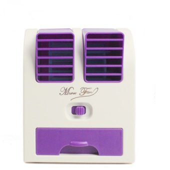 Mini Small Fan Cooling Portable Desktop Dual Bladeless AirConditioner USB