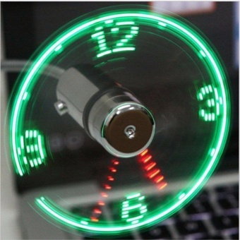Mini USB Fan gadgets Flexible Gooseneck LED Clock Cool For laptopPC Notebook Time Display high quality durable Adjustable - intl Price Philippines