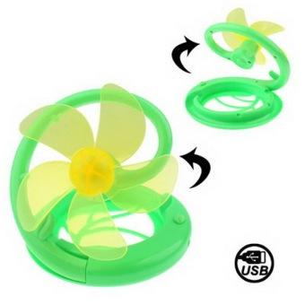 Mini USB Folding Table Fan (Light Green)
