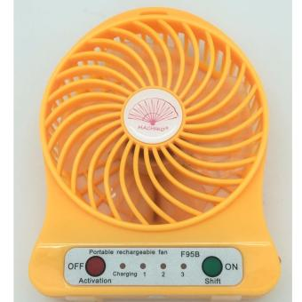MINI USB RECHARGEABLE PORTABLE COOLING FAN [YELLOW] Price Philippines