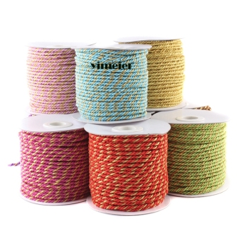 Multi-color round rope Christmas decorative wire twisted rope