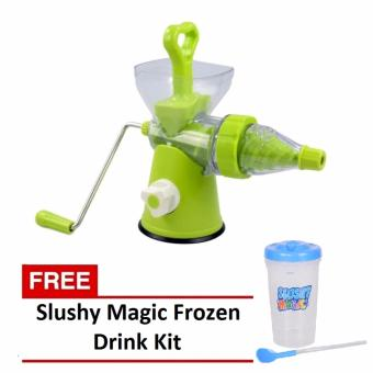 Multi-function Manual Juicer (Green) with FREE Slushy Magic FrozenDrink Kit