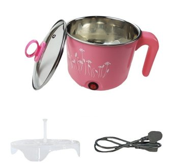 Multi-function Stainless Steel Electric Cooker 1.5L (Pink)