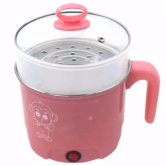 Multifunction Stainles Steel Electric Cooker Boiler (Pink)
