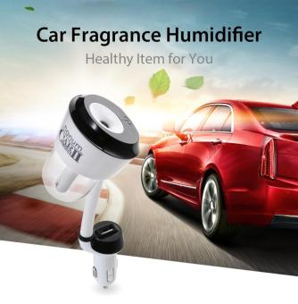 New 12V Car Humidifier Automobile Fragrance Mini Air Humidifierwith One USB Charging Port Aroma Diffuser Portable Air Purifier -intl
