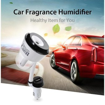 New 12V Car Humidifier Automobile Fragrance Mini Air HumidifierwithOne USB Charging Port Aroma Diffuser Portable Air Purifier - intl