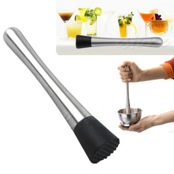 New Cocktail Muddler Stainless Steel Bar Mixer Barware MojitoCocktail DIY Drink Fruit Muddler Crushed Ice Barware Bar Tool Price Philippines