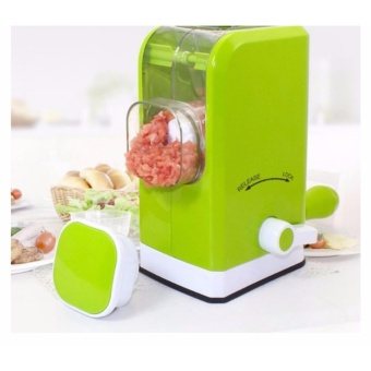 New Multifunctional Manual Meat Grinder Mincer Sausage Machine (Green)