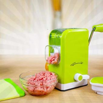New Multifunctional Manual Meat Grinder Mincer Sausage Machine(GREEN)