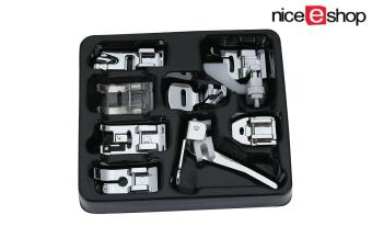 niceEshop Sewing Machine Presser Feet Set Walking Foot Set ForBrother,Singer,Set Of 8,Silver - intl