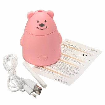 Panda Essential Oil Aroma Diffuser Ultrasonic Air Humidifier Aroma Purifier Pink