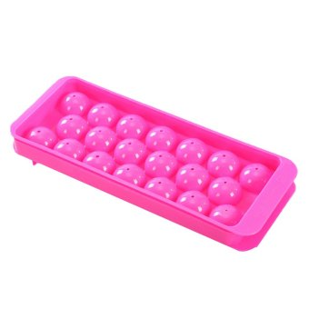 Party Home 20-Compartment DIY Whiskey Ice Ball Maker Cube TrayMould Mold Red