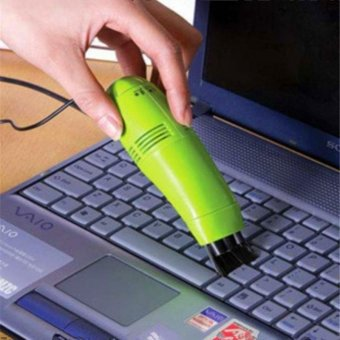 PC Computer Laptop Keyboard USB Mini Vacuum Cleaner - intl