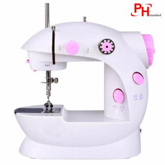 Phstandard PHSM-303 There is Light 2-Speed Mini Electric SewingMachine Kit (White/Pink)