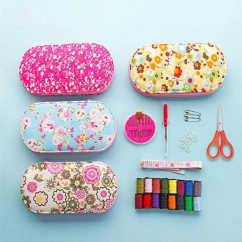 Portable Mini Sewing Kit Box with Needle Threads Pin Scissor - intl