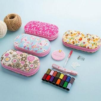 Portable Mini Sewing Kit Box with Needle Threads Pin Scissor - intl - 4