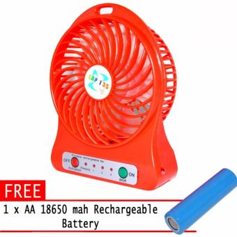Portable Multi function Rechargeable Mini Fan with free 18650 AA rechargeable battery and USB cord