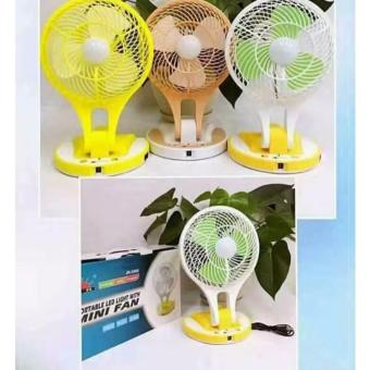 Portable Rechargeable Mini electric fan with LED Light (GREEN)