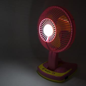 Portable Rechargeable Mini Fan with LED Light JY-5590 (Pink) - 5