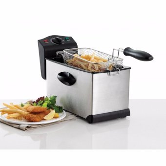 Professional-Style Electric Deep Fryer 1.75L (Stainless Steel)