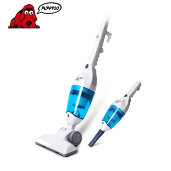 PUPPYOO Low Noise Home Rod Vacuum Cleaner Portable Dust CollectorHome Aspirator White & Blue Color WP3006