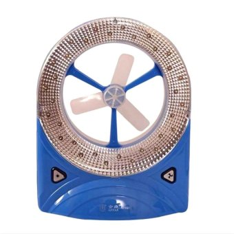 Rechargeable LED Emergency Light With Fan (Blue)