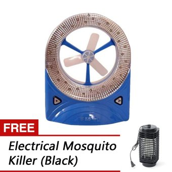 Rechargeable Led Light with Fan (Blue) with Free ElectricalMosquito Killer (Black)