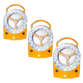 Rechargeable LED Light with Fan Set of 3 (Yellow)