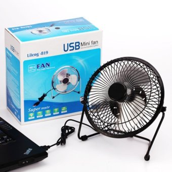 Rechargeable Portable Electric Fan Home Office Desktop usbFanstudent dormitory small bedside fan with large wind Black - intl - 4