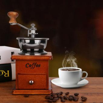 Retro Design Coffee Beans Grinder Classic Hand Manual Coffee Maker - intl