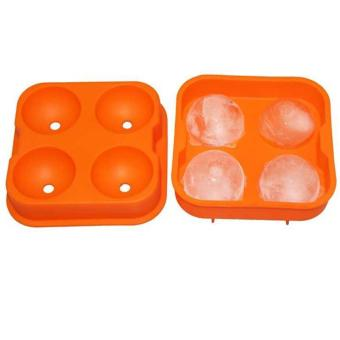 Round Ice Balls Maker Tray Four Large Sphere Molds - intl Price Philippines
