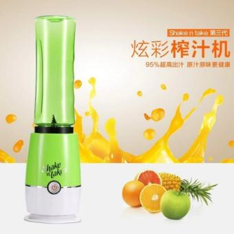 Shake N Take 3 Fruit Juice Smoothie Blender with 2 Sport Bottles Juicer(GREEN)