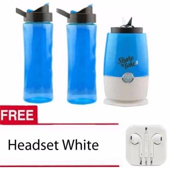 Shake n Take 3 Tumbler & Blender (Blue)with Free Headset White