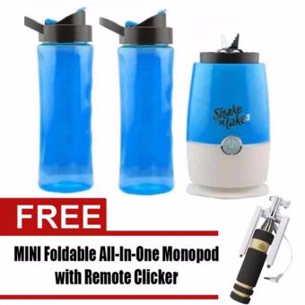 Shake n Take 3 Tumbler & Blender (Blue)with Free Mini MonopodColor May Vary