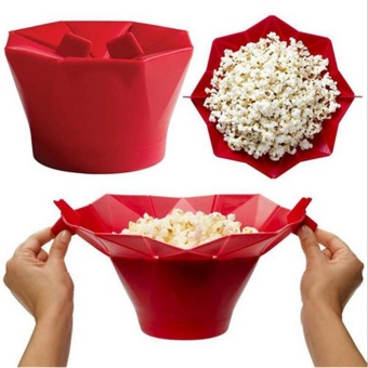 Silicone Microwave Magic Household Popcorn Maker Container HealthyCooker Tool - intl