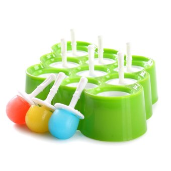 Silicone Mini Ice Pops Mold Ice Cream Ball Maker Popsicle MoldsWith 9 Stickers - intl Price Philippines