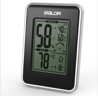 SLM Home Comfort Monitor Dehumidifier Portable Indoor Thermometer Hygrometer Trend(Black) - intl Price Philippines