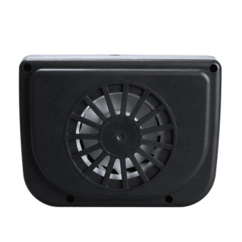 Solar Sun Powered Car Auto Air Vent Cool Cooler Vent Fan Radiator(Black)