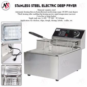Stainless Steel Electric Deep Fryer (Silver)