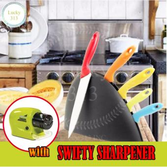 Stainless Steel Kitchen Knife Set with Swifty Sharpener
